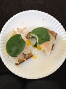 openfaced egg sandwich