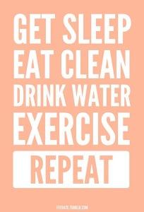 get sleep exercise